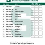 Printable Michigan State Spartans Football Schedule 2016