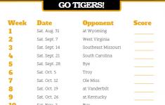 Printable Missouri Tigers Football Schedule Georgia Tech