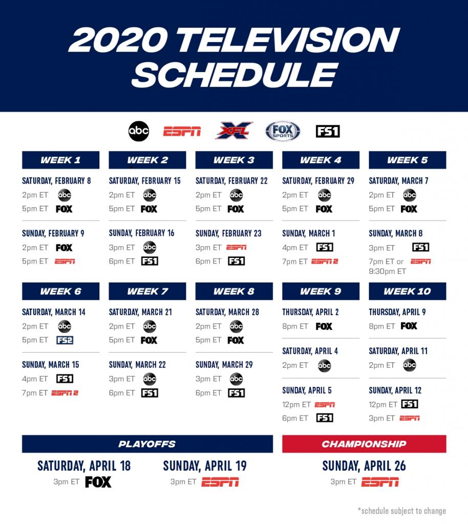 Printable Nfl Schedule For 2019 2020 Calendar