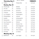Printable NFL Week 1 Schedule Pick Em Pool 2020