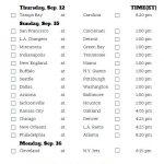Printable NFL Week 2 Schedule Pick Em Pool 2019 Nfl
