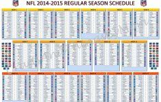 Printable One Page Nfl Schedule PrintableTemplates