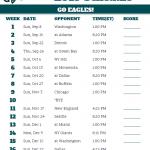 Printable Philadelphia Eagles Schedule 2019 Season With