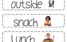 Printable Schedule Picture Cards For Preschool Classrooms