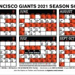 Printable Schedule San Francisco Giants