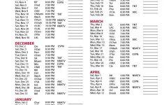Printable Team Schedules PrintableTemplates