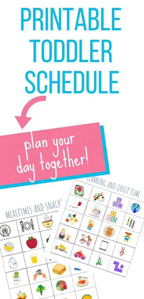 Printable Toddler Schedule Free High Chair Chronicles