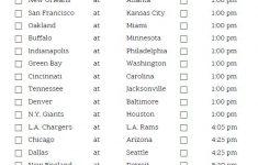 Printable Week 3 NFL Schedule Pick Em Sheets Nfl Pick