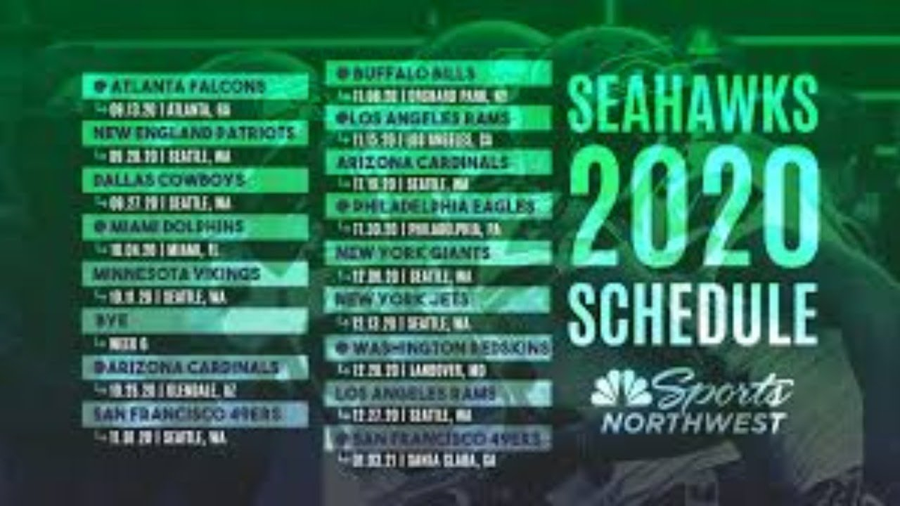 Reactin To New Seahawks Schedule YouTube