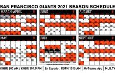 San Francisco Giants Release 2021 Schedule San Francisco