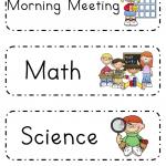 Schedule Cards Kindergarten Schedule Classroom Schedule