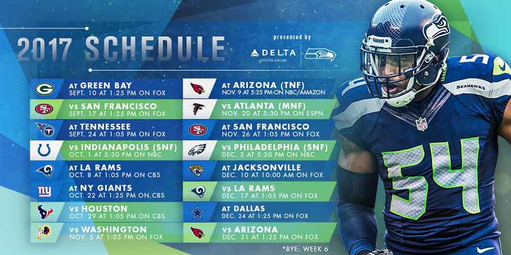 Seahawks Schedule Printable Pacific Time PrintAll