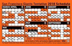 Sf Giants Schedule Printable Calendar Calendar Template 2021