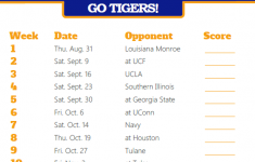 University Of Memphis Football Schedule Printable