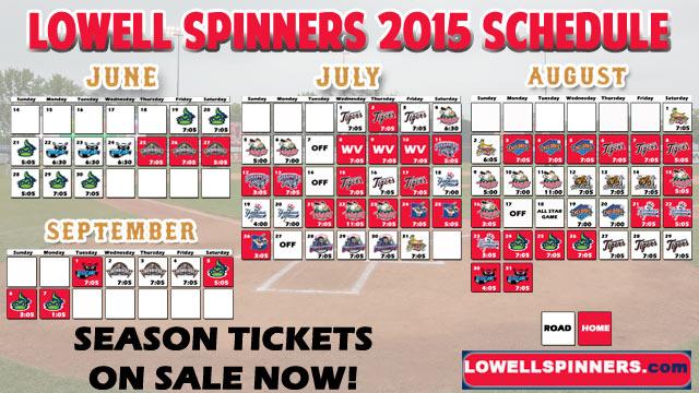 Spinners Release 2015 Season Schedule Spinners
