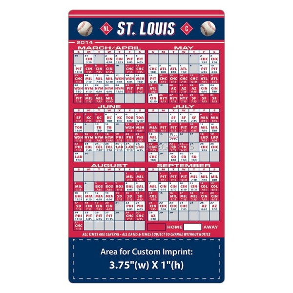 St Louis Cardinals Schedule 2021 Printable