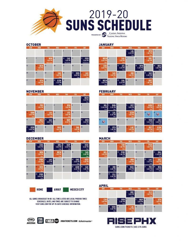 Suns Broadcast Schedule Jpg Phoenix Suns