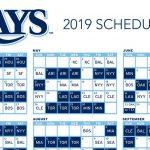 Tampa Bay Rays Baseball Schedule For 2019 Baseball Poster
