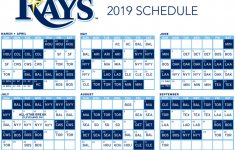 Tampa Bay Rays Release 2019 Schedule DRaysBay