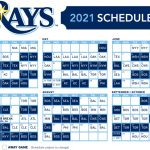 Tampa Bay Rays Release 2021 Season Schedule