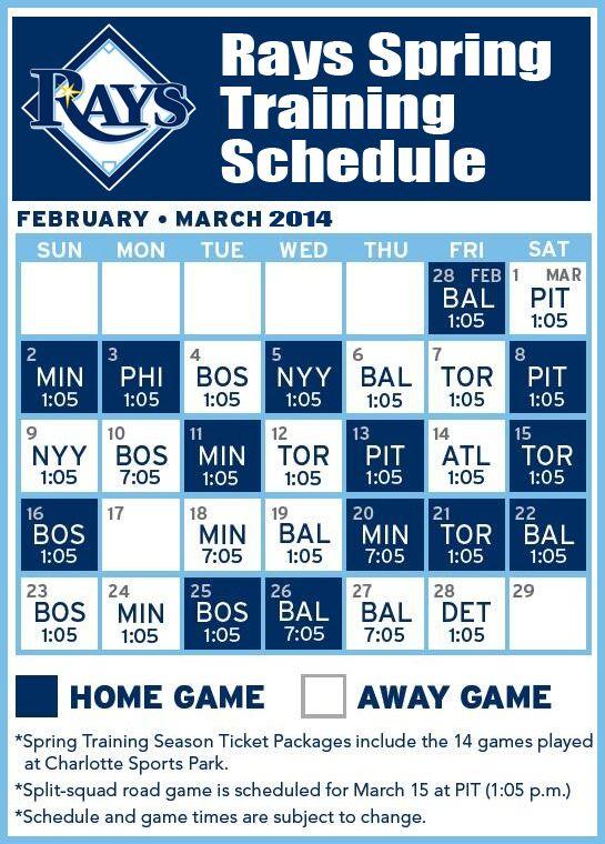 Tampa Bay Rays Schedule 2019 Printable PrintableTemplates