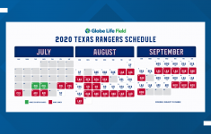 Texas Rangers Release 2020 Schedule Wfaa