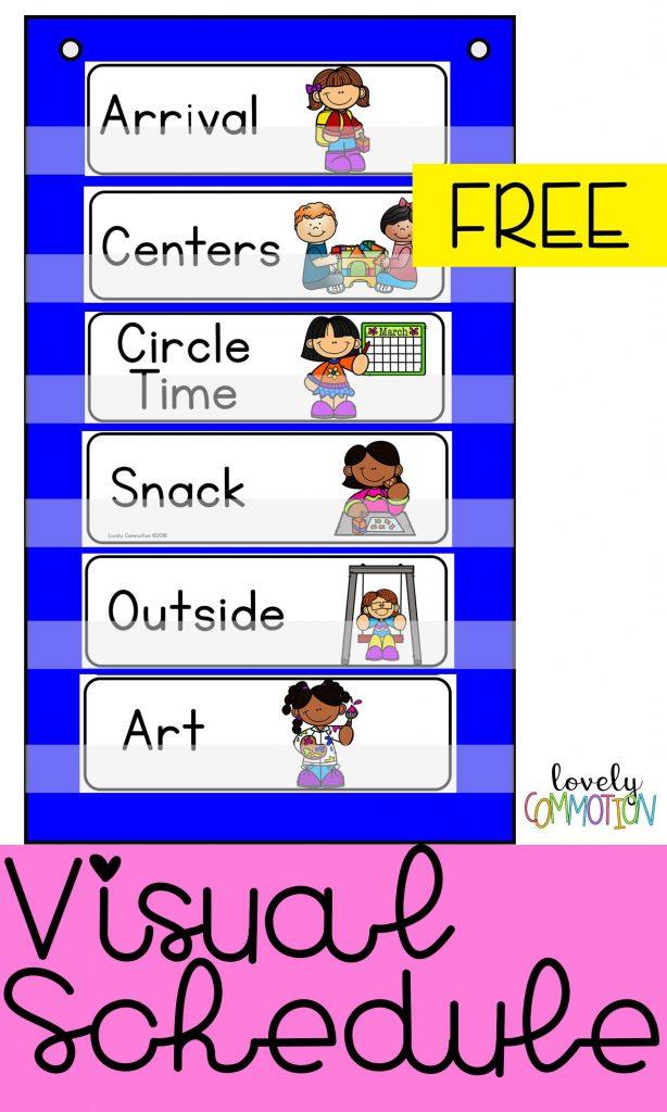 The Benefits Of A Visual Schedule Preschool Schedule