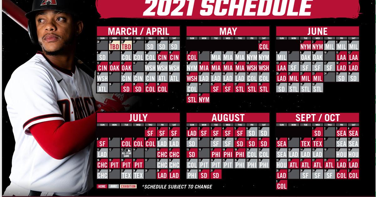 The Diamondbacks Release 2021 Schedule AZ Snake Pit