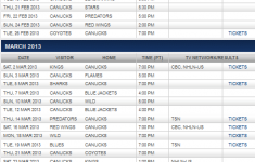 The Inside Scoop Canucks Schedule For 2013
