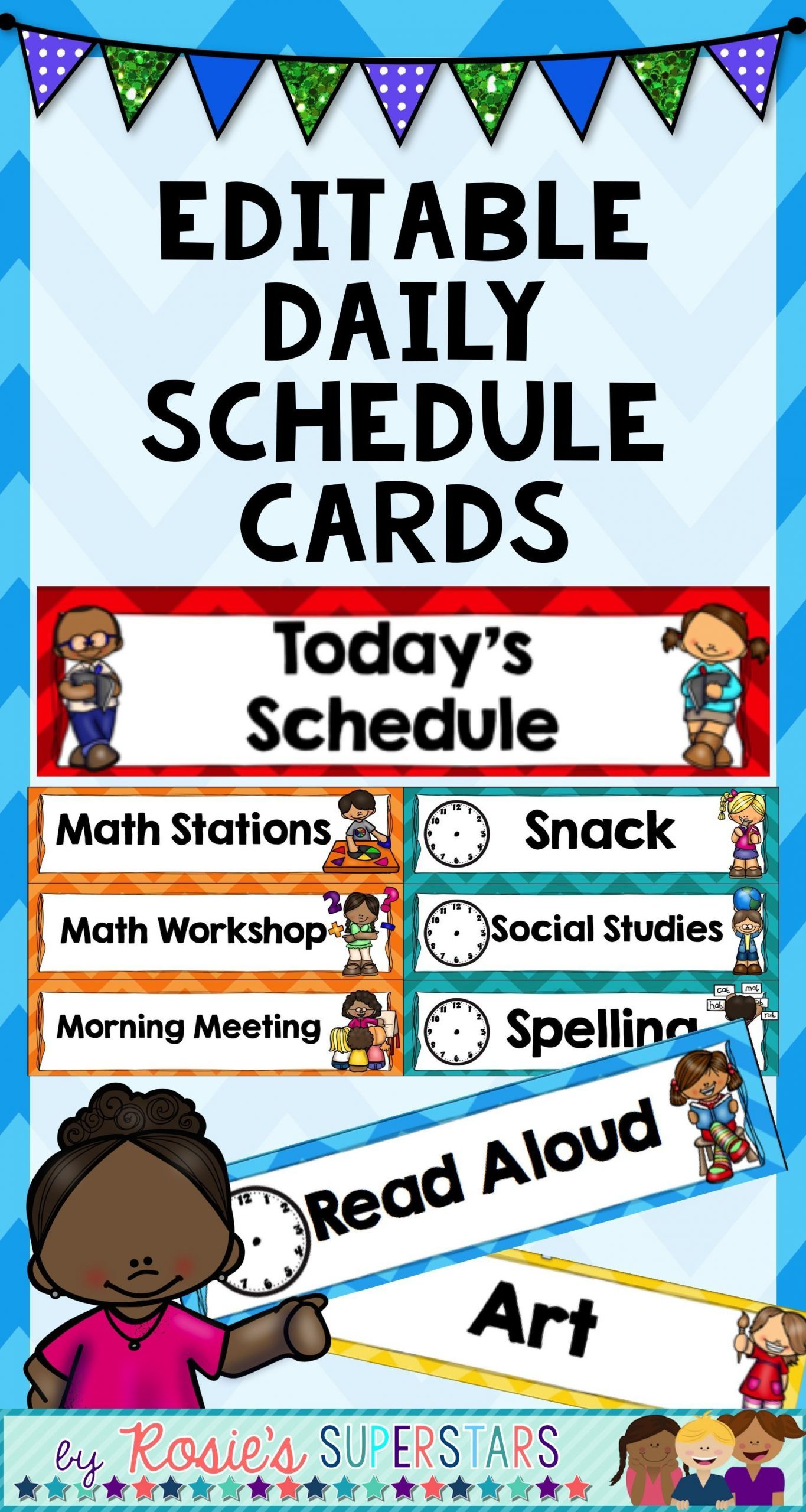 These Ready To Print And Editable Daily Schedule Cards Are