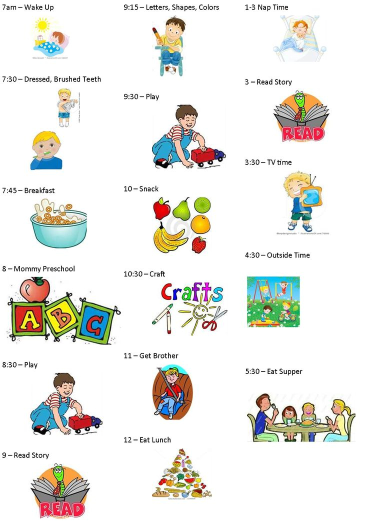 Toddler Schedule Clipart 20 Free Cliparts Download