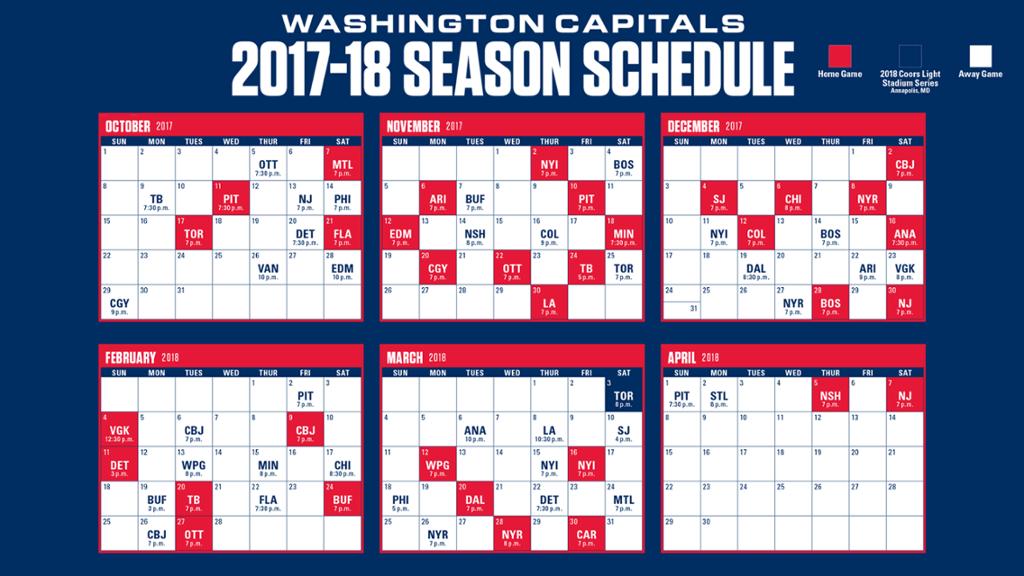 Top Washington Capitals Printable Schedule Joann Website