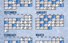 Toronto Maple Leafs 17 18 Printable Schedule Leafs