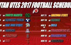 Utah 2017 Football Schedule Announced ESPN700