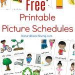 Visual Schedule Free Printable Routine Cards Natural