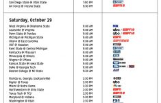WEEK 9 Comprehensive College Football TV Guide