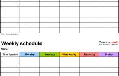 Weekly Schedule Template Pdf Task List Templates