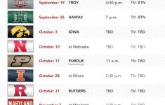 Wisconsin Badgers Football Schedule 2021 Printable