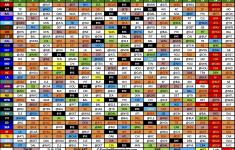 1 Page Printable Nfl Schedule Calendar Template Printable