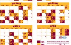 Cavs Schedule Printable