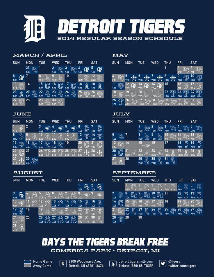 2015 Detroit Tigers Schedule Wallpaper WallpaperSafari