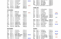 2019 20 Avs Schedule W Complete TV Listings Enjoy