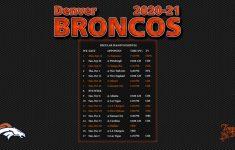 2020 2021 Denver Broncos Wallpaper Schedule