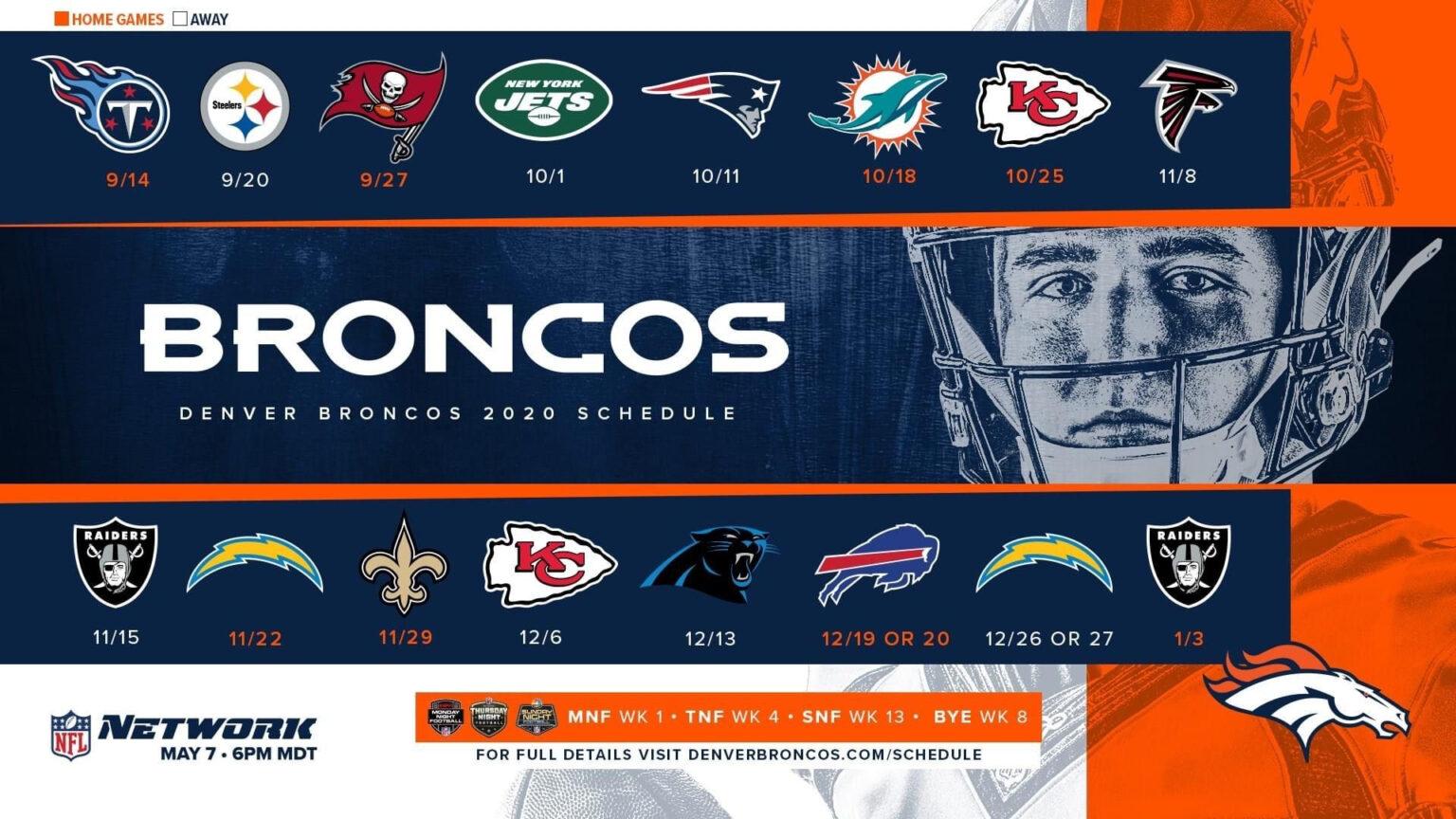 2020 2021 Season In 2020 Denver Broncos Broncos