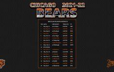 2021 2022 Chicago Bears Wallpaper Schedule