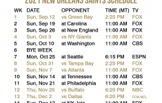 2021 2022 New Orleans Saints Lock Screen Schedule For