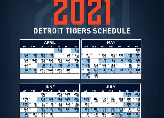 2021 Detroit Tigers Team Schedule Tickets Available