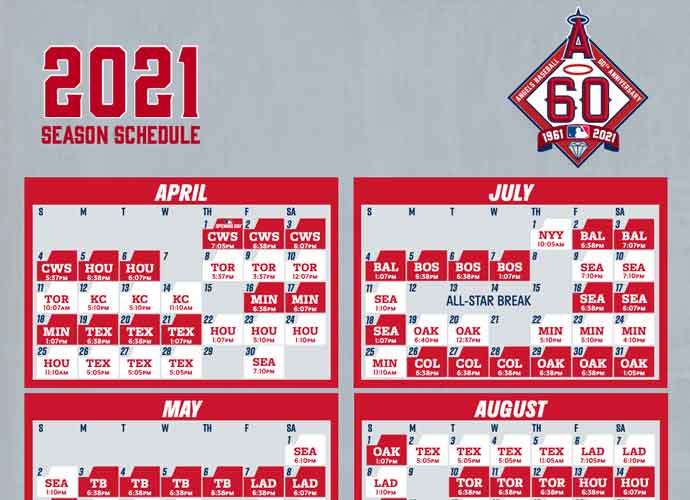 2021 Los Angeles Angels Team Schedule Tickets Available