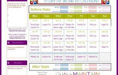 21 Day Fix Workout Calendar Calendar Printable Week