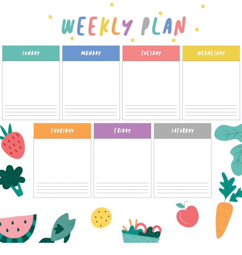 9 Best Weekly Planner Printable Printablee